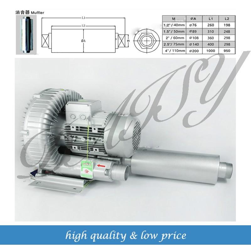 Silenciador Industrial de aire de alta presión con envío gratis