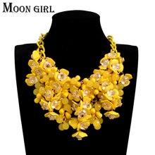 Della boemia Maxi fiore della collana del choker 2016 Nuovo sping di modo boho esposizione dei monili Grande collana di dichiarazione per le donne accessori