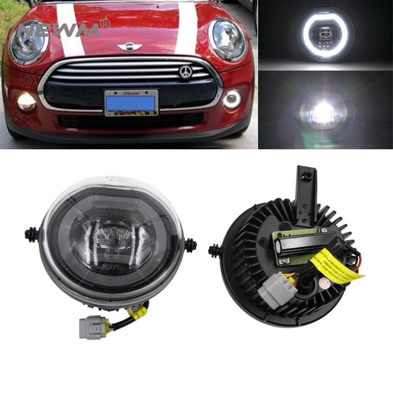 2 sztuk LED efekt aureoli DRL światła przeciwmgielne do jazdy dziennej dla MINI Cooper F54 F55 F56 F57 światła parkingowe OEM #63177298331, 63177298332