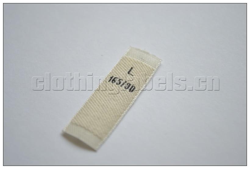 Material de algodón de etiqueta tejida personalizada material de algodón de alta calidad