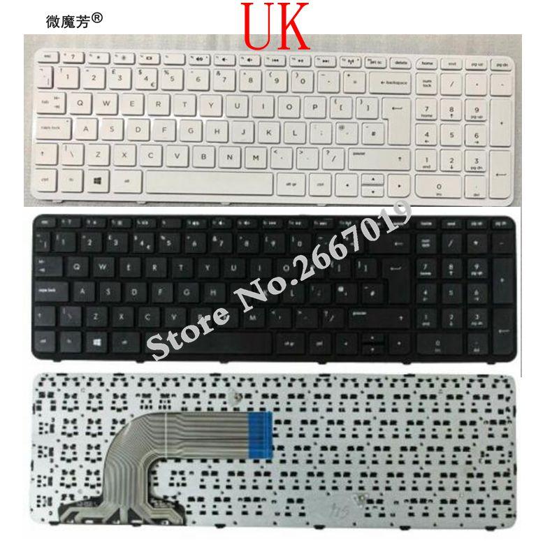 UK Tastatur für HP Pavilion 15-e 15-n 15-R 15-D 250 G3 255 G3 256 G3 Schwarz/weiß laptop tastatur