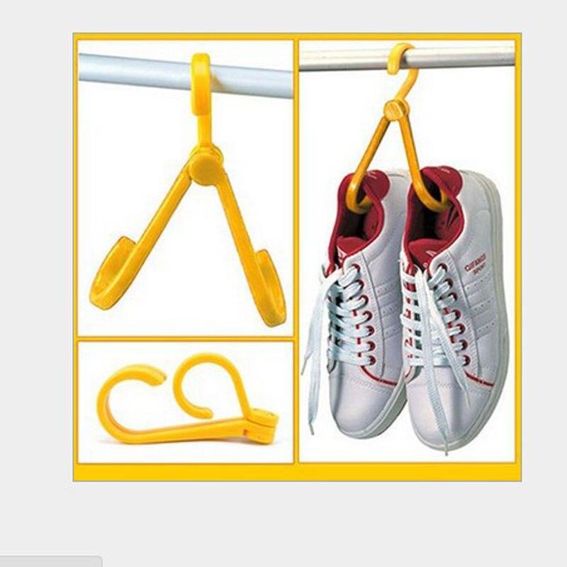Nuevos zapatos a prueba de viento, gancho colgante, Mini colgador giratorio plegable para ropa, estante de secado de zapatos para balcón, soporte de almacenamiento del hogar