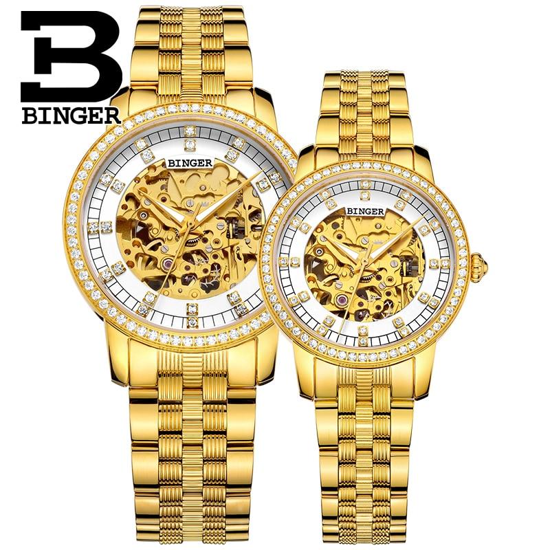 Switzerland Binger Watch Women Luxury Brand Miyota Automatic Mechanical Movement Watches Sapphire Waterproof Ladies Watch 5051L enlarge