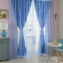 Vorhang Chic Zimmer Blase Muster Voile Fenster Vorhänge Sheer Panel Drapieren Schal Vorhänge