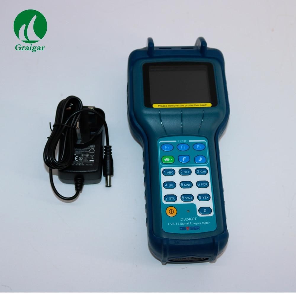 Medidor de nivel de señal Original DS2400T Catv, medidor de nivel de señal DVB-T Qam