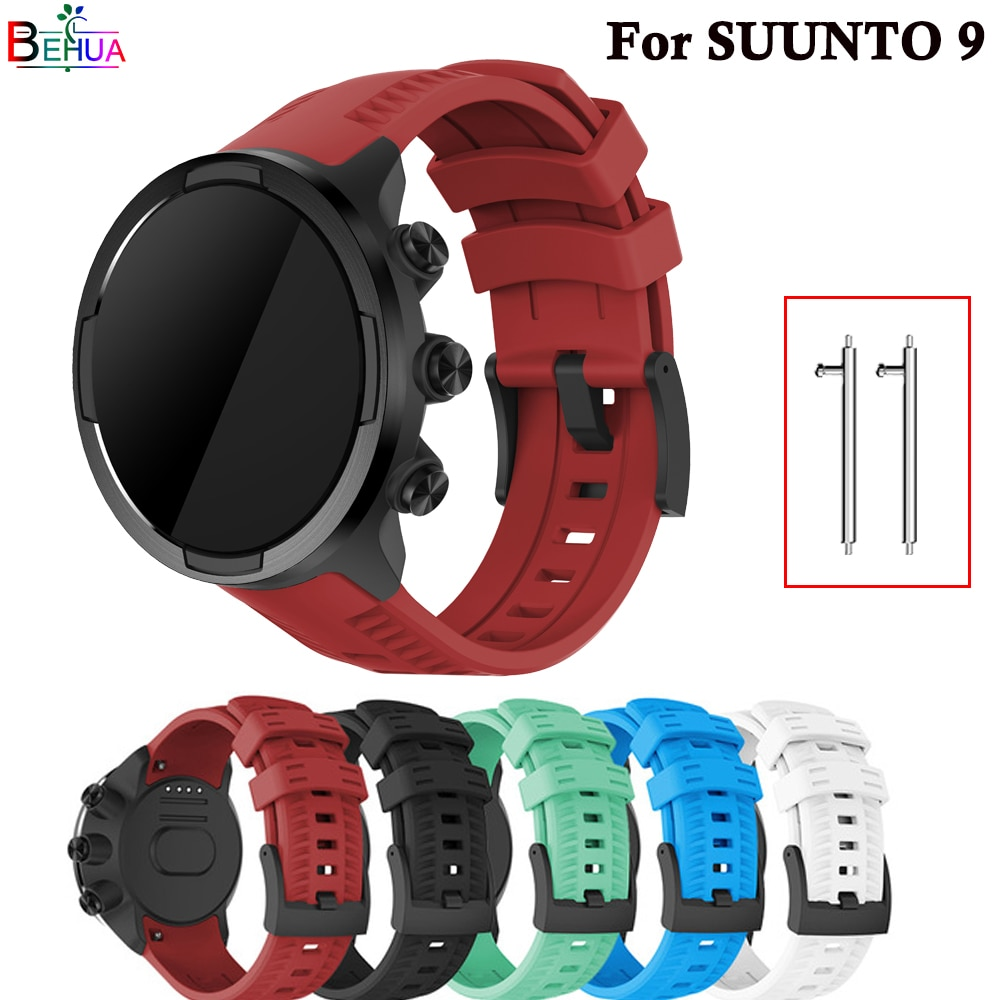 Brand new high quality silicone watch strap For Suunto 9/9 Brao/Spartan sport baro wristband Replacement watch band Accessories free delivery replacement sport band for suunto core rubber soft watch strap tpu wristband