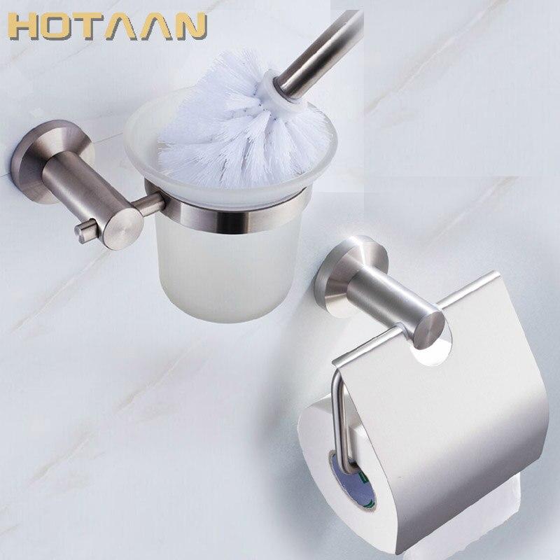 شحن مجاني ، SUS 304 # الفولاذ المقاوم للصدأ ملحقات الحمام مجموعة ، ورقة حامل فرشاة المرحاض حامل ، الحمام مجموعات ، YT-10900-2