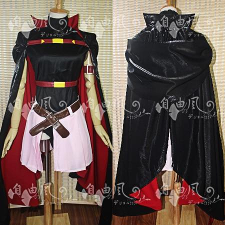 Magical Girl Lyrical Nanoha Fate Testarossa disfraz de Cosplay uniforme Camisa + falda + capa + calcetines + guantes + tocado hecho a medida