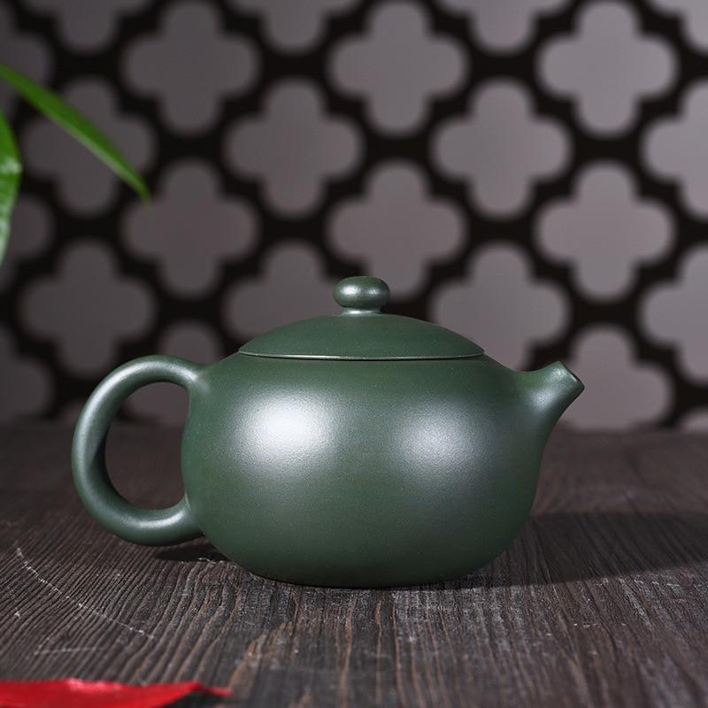 Yixing Zisha tetera genuina todas las materias primas hechas a mano verde barro Xi Shi olla Kung Fu tetera juegos de té