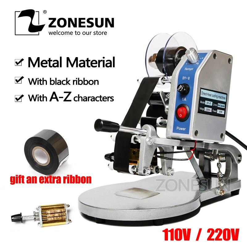 Nueva máquina de impresión en huecograbado de ZONESUN DY, caducidad/Fecha/Hora/número de serie/lote número de lote impresora de inyección de tinta Código hs