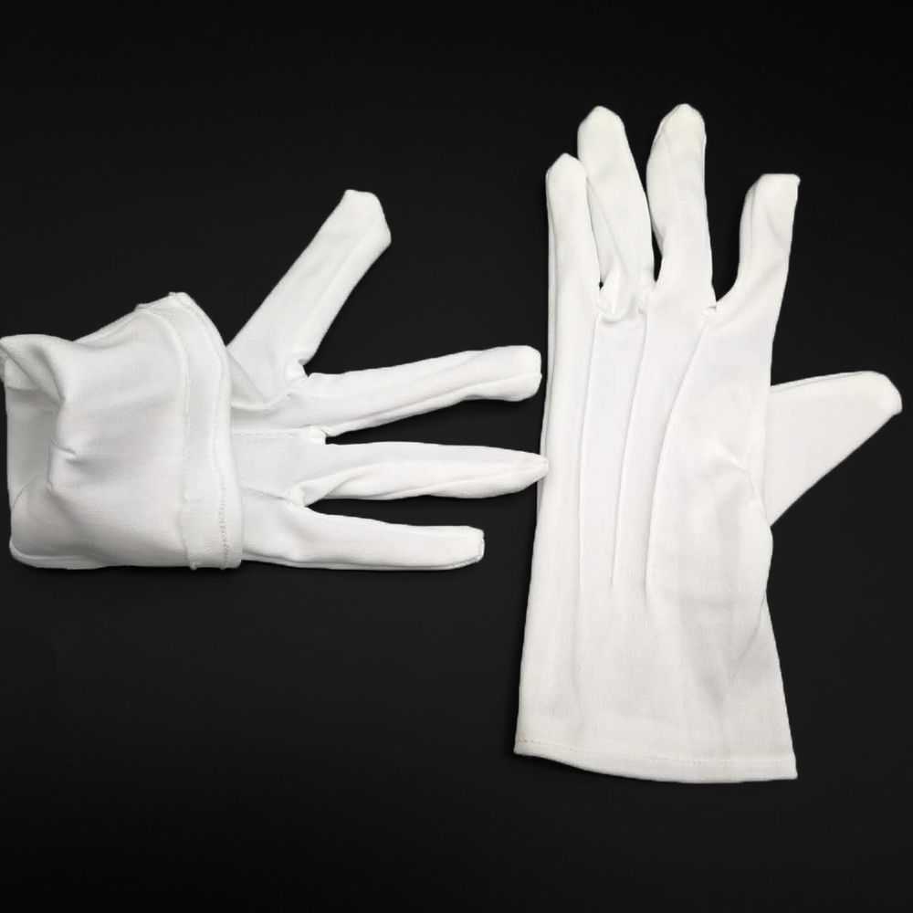 1 par de guantes blancos formales para hombre esmoquin Honor Guard Parade Santa Inspection Hot