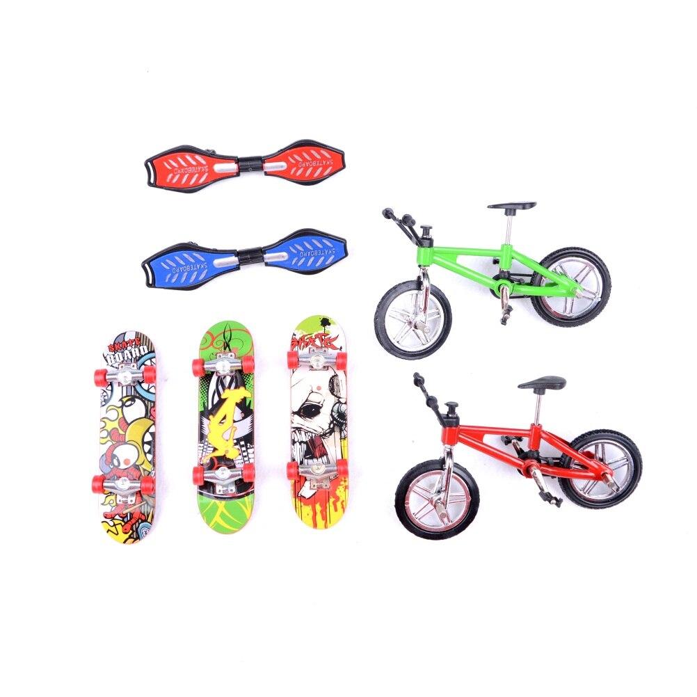 Dedo bonito skate e dedo bicicleta brinquedos mini-dedo fingerboard dedo skate board scooter profissional crianças bicicleta