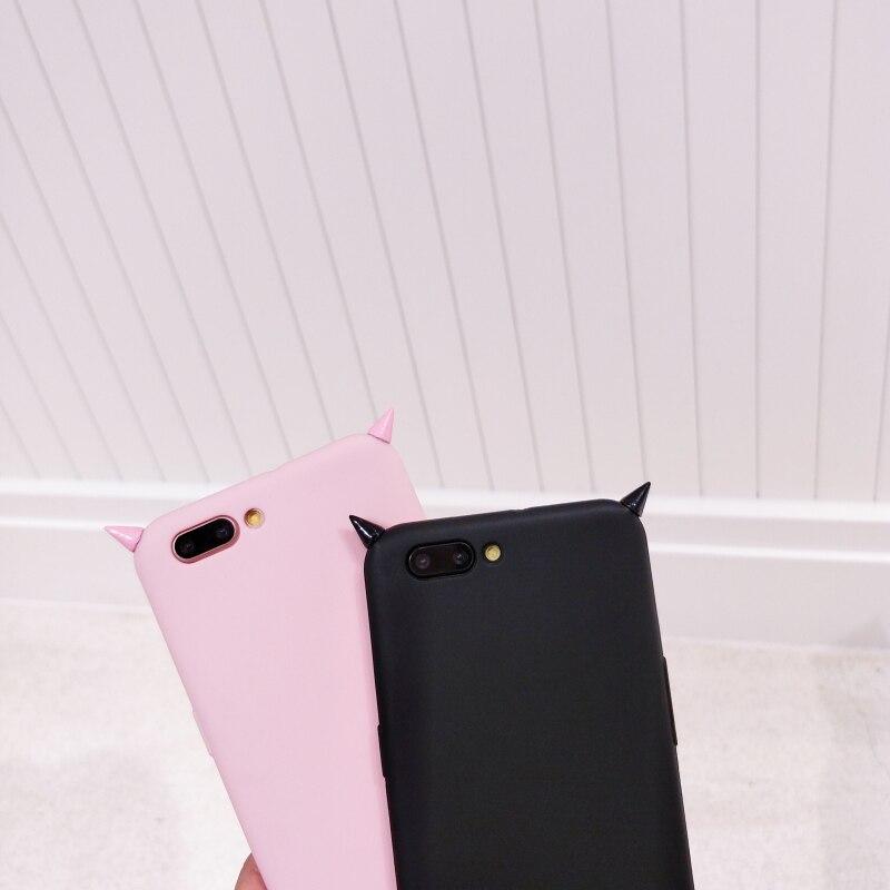 For Xiaomi Mi 6 A3 A2 A1 5X Max 2 Mix 2s 3 for Redmi 5 Plus Note 5 Pro 5A 4X 3S Cases 3D Luxury Devil Horns Cover Silicone Case