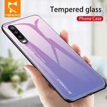 Verre trempé étui pour Huawei P30 P20 Pro Lite Nova 3 3i 4 4E Bord En Silicone Pour Huawei Mate 20 10 Pro Lite Étui Coloré
