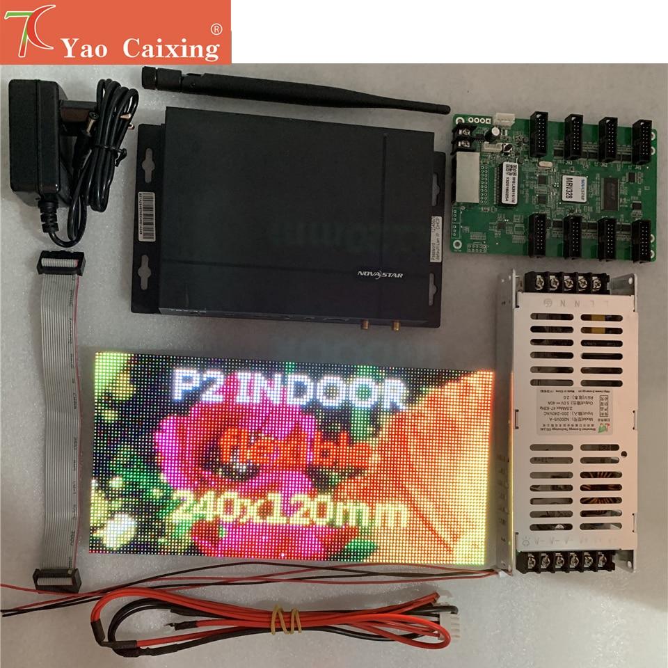 Shipping free Novastar sending box with P2 flexbile module, MRV328 receiving card ,power supply sample testing