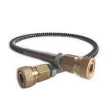 Acecare Paintball tuyau haute pression   Tuyau enveloppé à ressort pour équipement pneumatique 50cm/1m Long M10 * 1 x M10 * 1 fil masculin