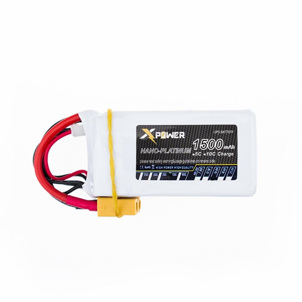 Batterie au Lithium Lipo 14.8 V 1500 Mah 4 S 45C pour Qudcopter RC