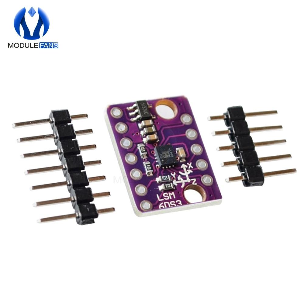 Módulo sensor de temperatura Digital integrado giroscópico acelerómetro GY-LSM6DS3 LSM6DS3 SPI IIC I2C módulo de interfaz 8kb FIFO Buffer 5V