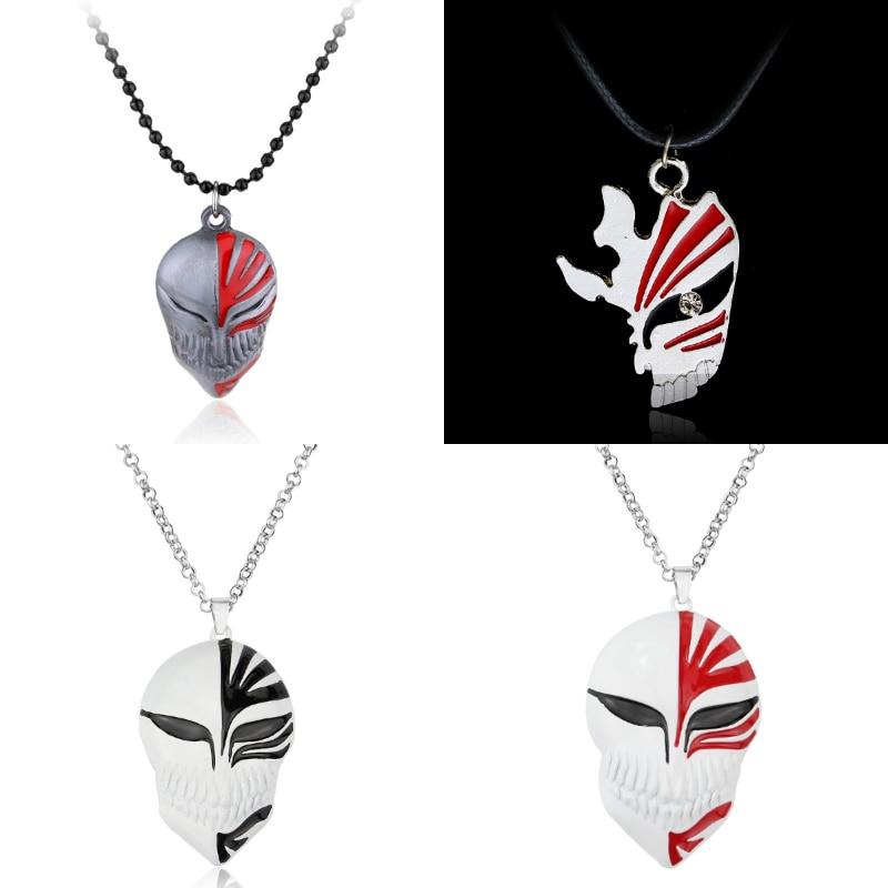 New Anime Bleach Ichigo Kurosaki Mask Logo Pendant Necklace Cosplay Jewelry