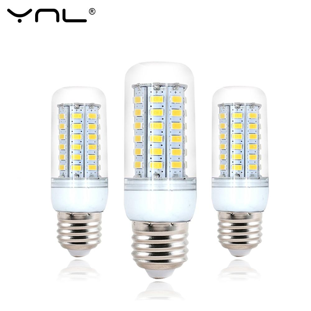 Ynl 220v lâmpada led e27 5 24 38 48 56 69leds smd5730 lâmpada de led lustre alto brilhante luzes