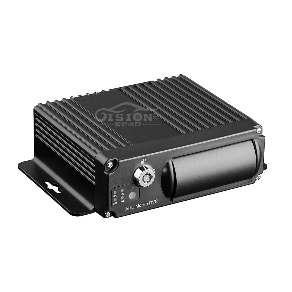 Remote Control SD HD 4CH DVR Realtime Video Recorder for Car Bus Truck 1080p H.265 Mobile DVR AHD MD