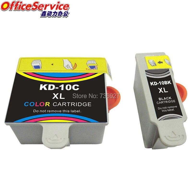 Cartuchos de tinta compatibles KD10 para Kodak ESP3/5/7/9/3250/5210/5250/ impresora 7250/9250/EASYSHARE 5100/5300/5500