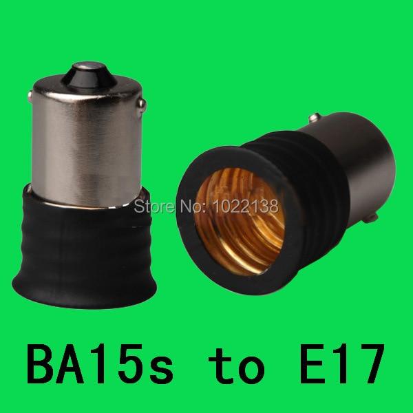 BA15s to E17 lamp base adapter socket converter 1157 chandelier lamp holder BA15s-E17 halogen lamp base Converter 1000pcs/lot