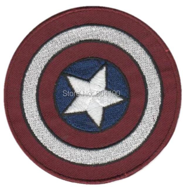 """3 """"Vintage Capitán América escudo de los Vengadores parche bordado Marvel Comic uniforme TV películas vídeos apliques coser/hierro en parche"""