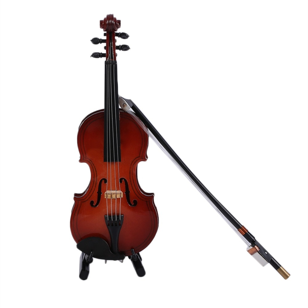 Hot Mini Musical Ornaments Wooden Craft Miniature Violin For Home Beautiful Ornament Home Decoration Accessories