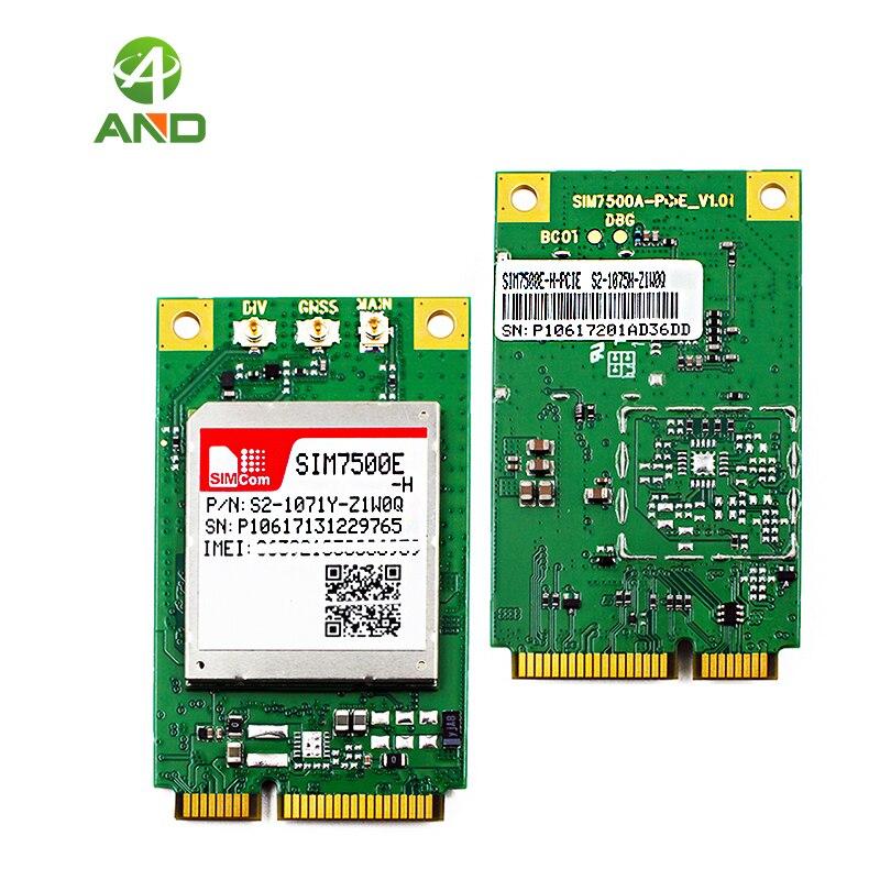 Sim7500e h multi faixa lte pcie módulo, SIM7500E-H-PCIE