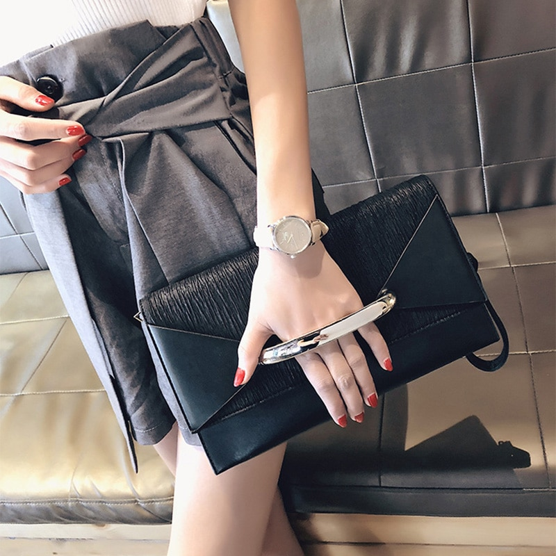 Envelope Clutch Bag Women Leather Luxury Handbags Birthday Party Evening Clutch Bags For Women Ladies Shoulder Clutch Bag Purse women hand bag genuine leather large envelope 2017 new multi function crossbody bags for women evening clutch bags