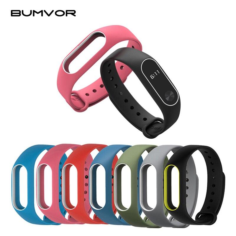 Colorful Women Men Fitness Waterproof Cover Silicone strap two-color Wrist Band Strap for Xiaomi Mi
