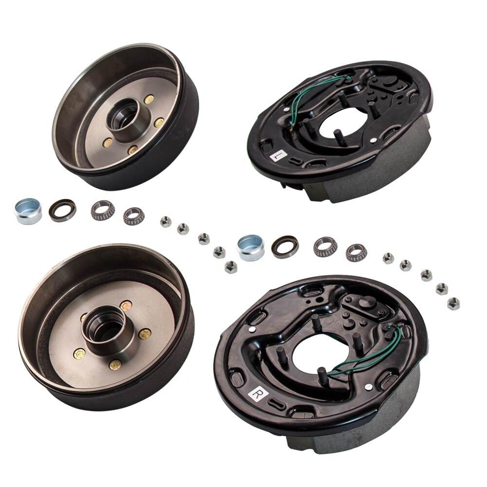 """2 reboque 10x2 1/4 """"freio elétrico 5 em 4.5 hub tambor kit 3500 libras eixo"""