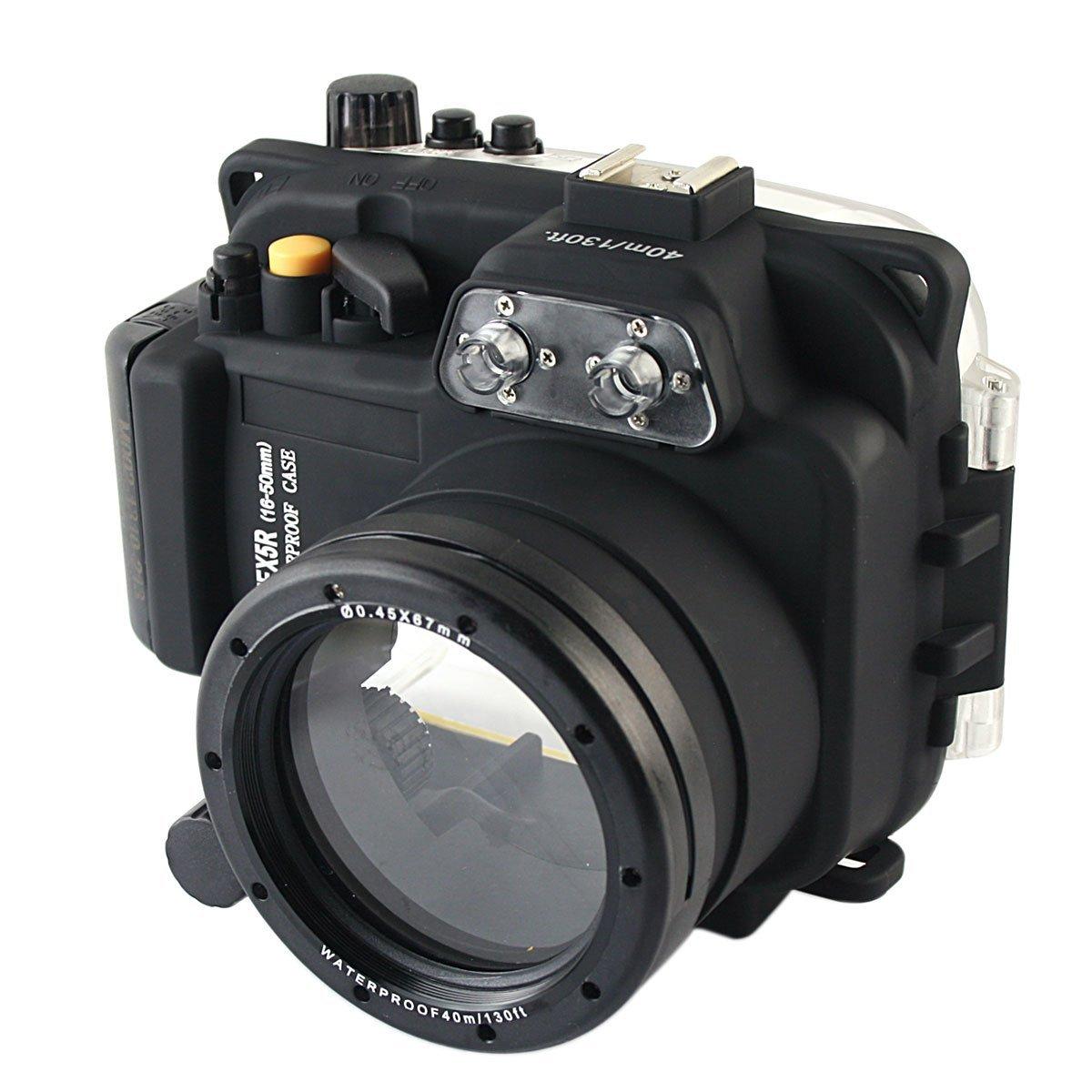 40M impermeable Cámara bajo el agua funda carcasa bolsa para Sony NEX-5R NEX-5L NEX-5T 16-50mm de la Lente de la cámara