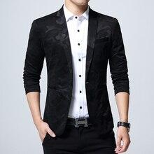 2018 Brand Men's Clothing Blazer One Button Men Blazer Slim Fit Suit Homme Men's Blazer Jacket Size Over Size 5XL