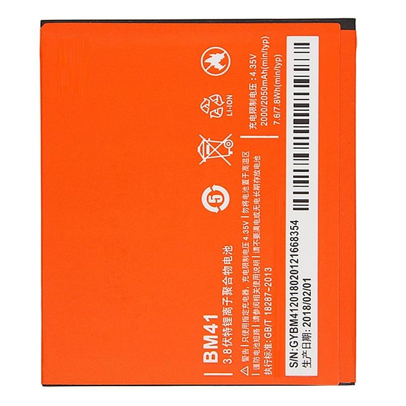 Batería de teléfono BM41 para Xiaomi 2A Redmi Hongmi Red Rice 1 1 S 2 alta capacidad 2000 mAh