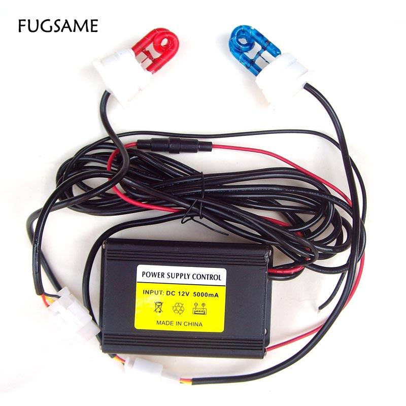 FUGSAME, envío gratis, directo de fábrica, nuevo, 60 W, 2 luces estroboscópicas rojas y azules, KIT de sistema de bomberos policiales