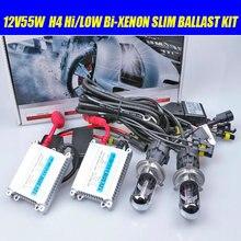 H4-3 Bi xenon, 55 W 12 VH4 Hi/Low Xenon lamp kit  6000K 8000K 4300K 5000K H4 BI-XENON lamp