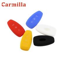 Carmilla 3 أزرار سيارة سيليكون البعيد حقيبة غطاء للمفاتيح فوب لفورد فييستا التركيز مونديو C-ماكس B-ماكس كوغا الهروب مفتاح ذكي