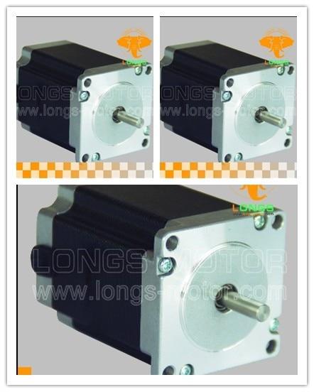 HOT SALES! 3pcs Nema 23 stepper motor 270 oz.in 3.0A 6wires for CNC Router/KIT/3D Printer-- longs motor