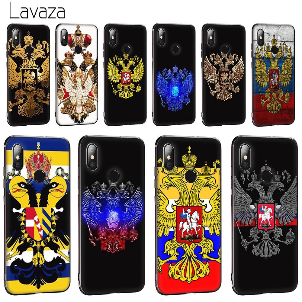 Lavaza bandera rusa águila suave funda para Huawei Honor 10 8 9 Lite 6A 7A Pro 7c 7x 8c 8x Nova 3 3i 4 Y5 Y9 Y6 Y7 primer