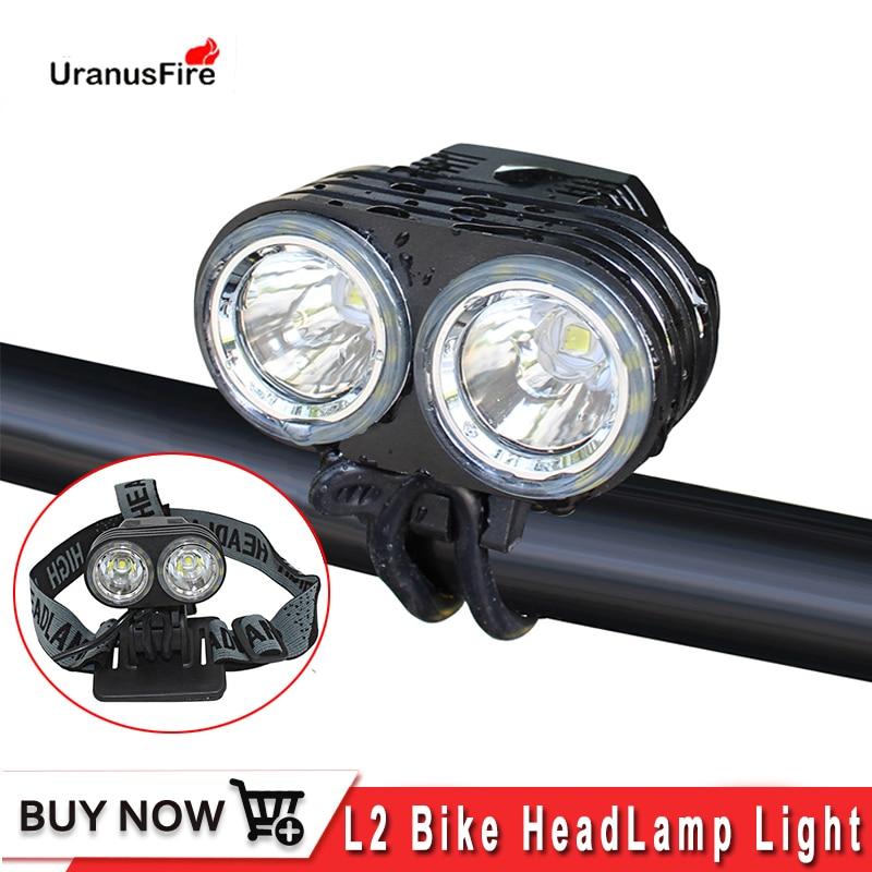 Uranusfire-مصباح أمامي LED للدراجة ، مصباح يدوي ، 4 أوضاع XM L2 ، منفذ شحن تيار مستمر