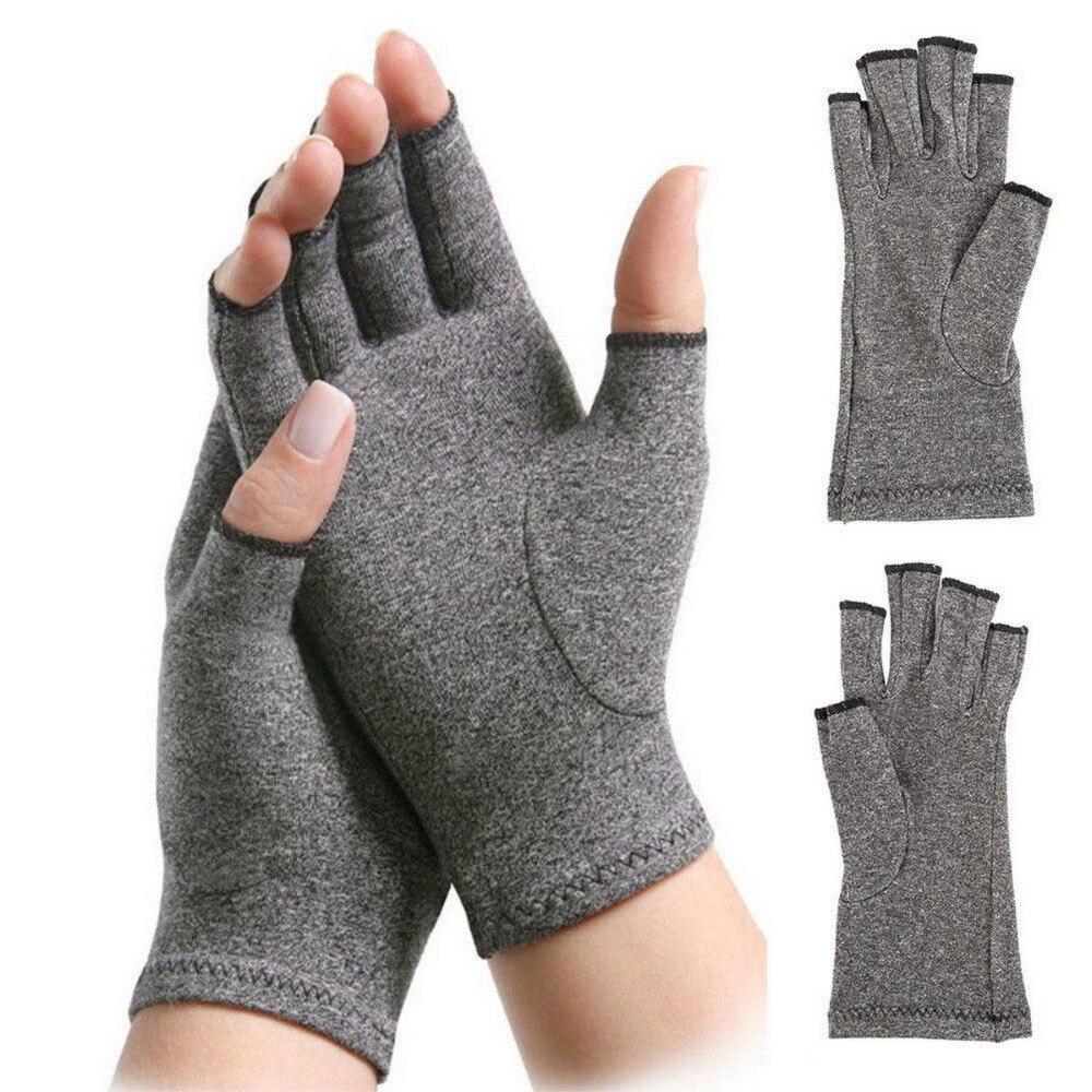 Guantes para artritis, alivio del dolor articular, soporte para muñeca de alta elasticidad, 2019 guantes de compresión grises, herramientas de cuidado 1 par