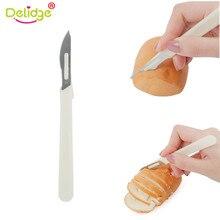 Delidge couteau à pain lame en acier carbone   Tige en PP Baguette de style occidental couper pâtisserie couteau à pâtisserie, outil de cuisson de cuisine 1 pièce
