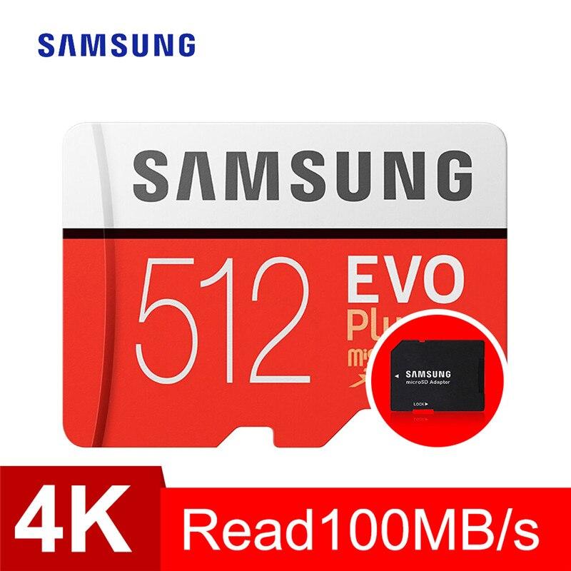 Tarjeta de memoria SAMSUNG TF, 32GB, 64GB, 128GB, 256GB, 512GB, EVO Plus Class10, Tarjeta Sim micro sd, resistente al agua para teléfonos inteligentes, cámara