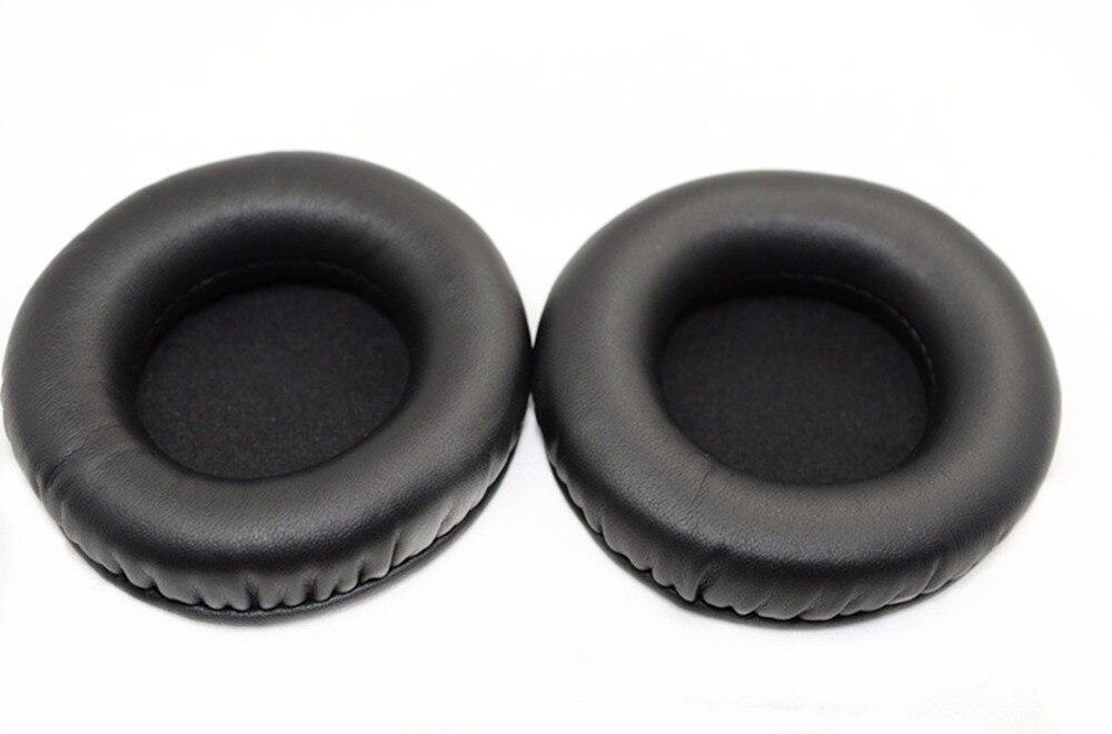 1 par de almohadillas de reemplazo negro para los oídos almohadillas de espuma almohadillas de almohada cubre tazas piezas de reparación para Rapoo H9000 H9010 Auriculares auriculares