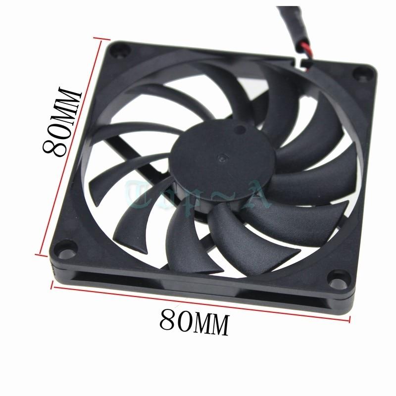 Gdstime 2pcs/lot USB Power 5V 80mm DC Brushless Cooling Fan 80x80x10mm For PC Computer Case Cooling