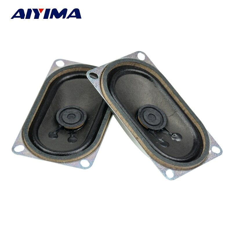 AIYIMA 2 uds altavoces de Audio 4 Ohm 3W Mini altavoz Rectangular 40x70MM altavoz para cine en casa