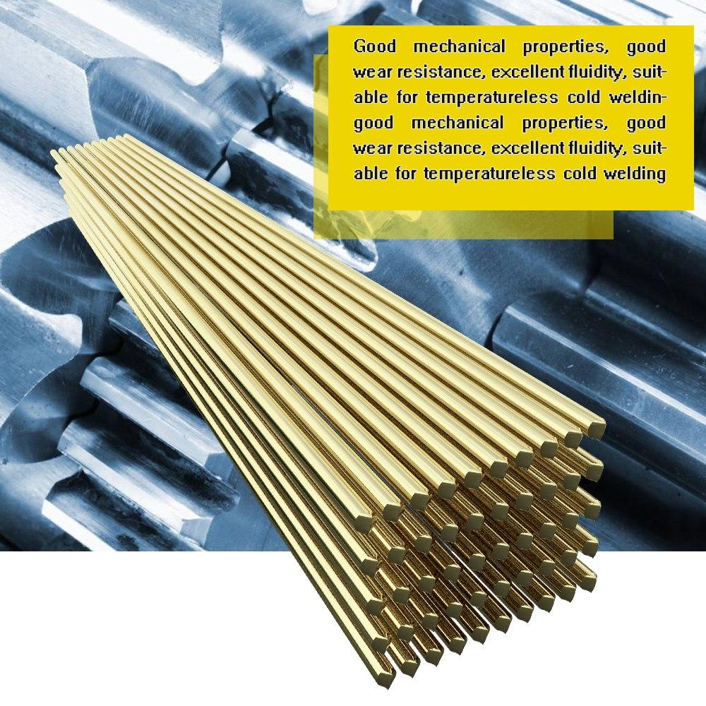 10 Uds. 20 piezas 50 Uds. Varilla de soldadura de electrodo de alambre de latón de 1,6mm x 250mm varilla de soldadura de polvo de soldadura sin necesidad de soldadura