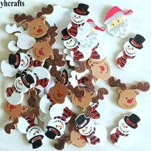 1bag/LOT.glitter Santa snowman elk foam stickers Xmas crafts Activity items Kids room decoration Decorative christmas diy toy OE